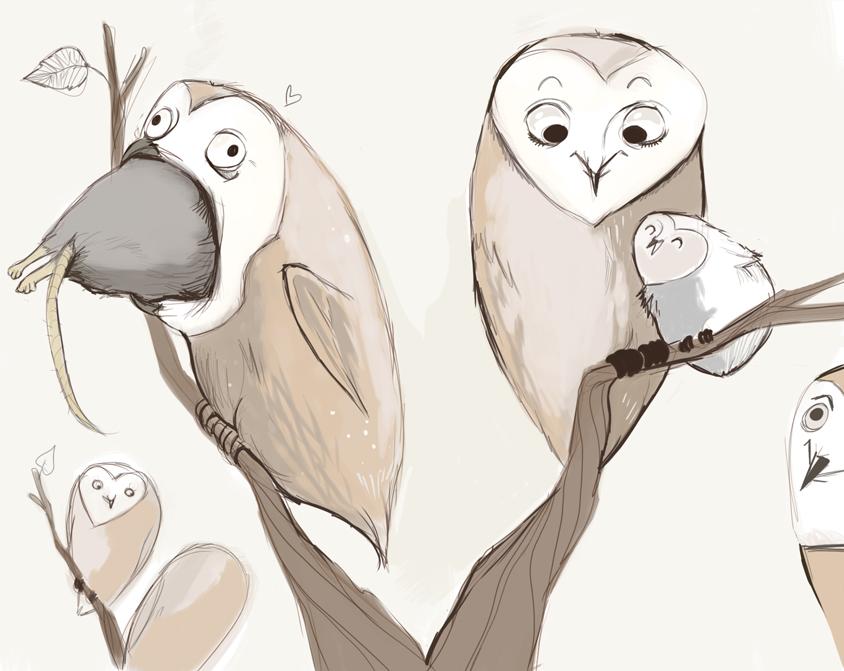 Thanksgiving Owls by Buuya