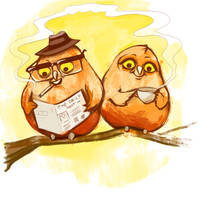 owltober morning by Buuya