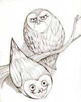 owltober grin by Buuya