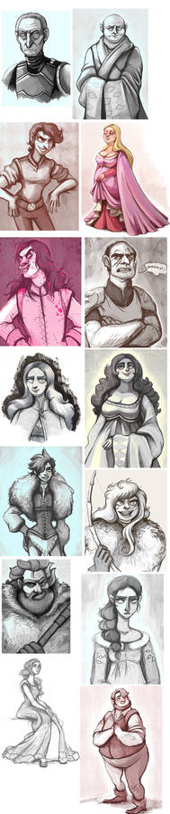 a storm of sketches