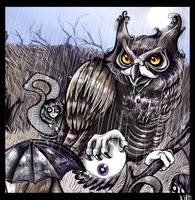The Owl and the Eyeball by Buuya