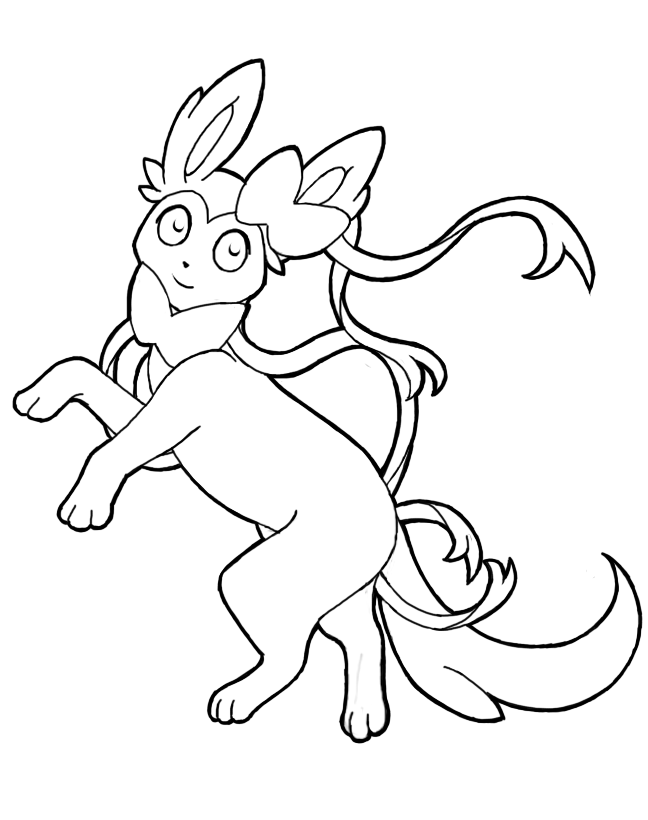 sylveon coloring pages | Sylveon Lineart by Queenen on DeviantArt