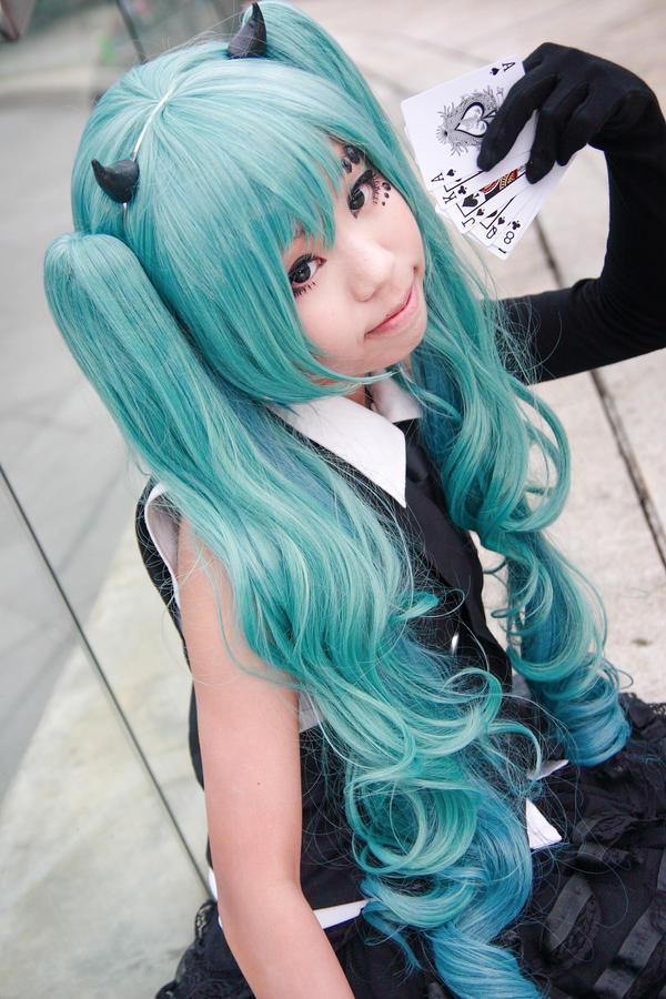 Vocaloid Poker Face - Miku by Xeno-Photography