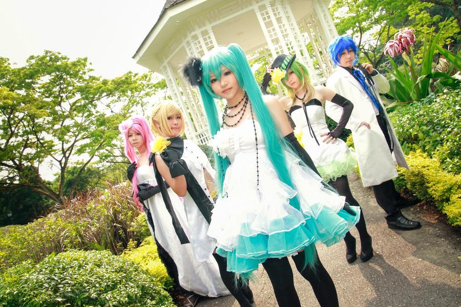 Vocaloid Camellia - Luka Rin Miku Gumi Kaito by Xeno-Photography
