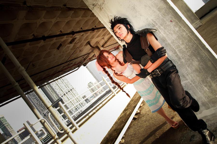 Final Fantasy Zack And Aerith Kiss