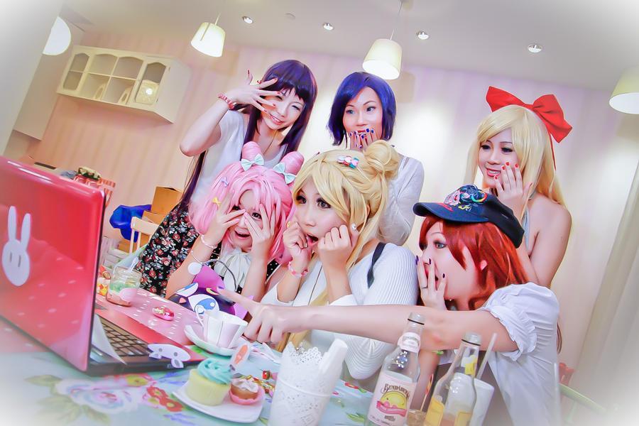 Sailor Moon - Usagi Ami Rei Makoto Minako Chibiusa by Xeno-Photography