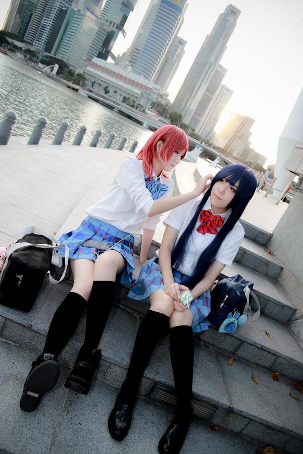 Love Live! - Maki x Umi by Xeno-Photography