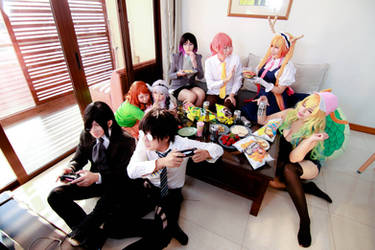 Kobayashi-san Maid Dragon - team group by Xeno-Photography