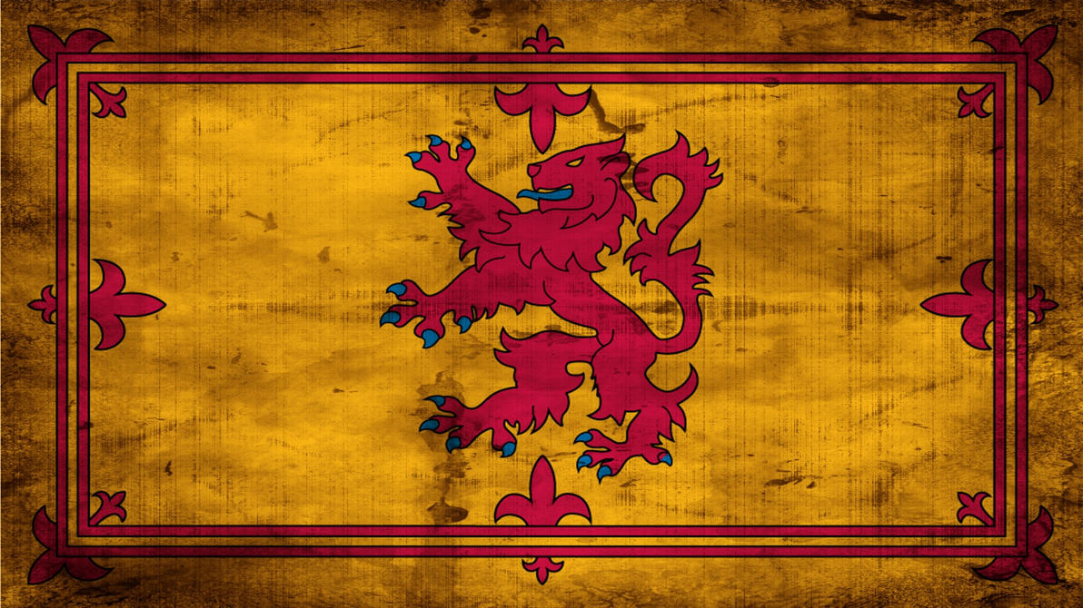 Grunge Scotlands Royal Flag by K567