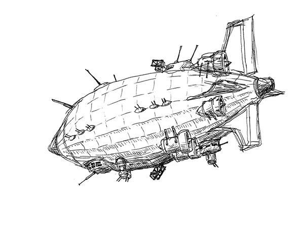 Airship by RonnyRonin