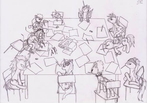 Lucca 2012 - Italian bronies' drawing table