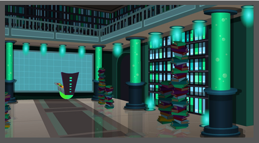 Futuristic Library by CourtneyBowen ...