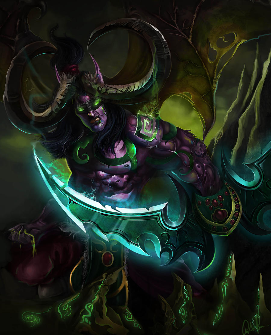 Illidan Stormrage -The Betrayer by CourtneyBowen