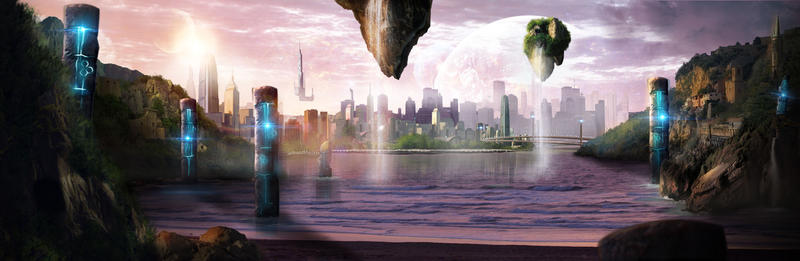 Futuristic Matte Painting by CourtneyBowen