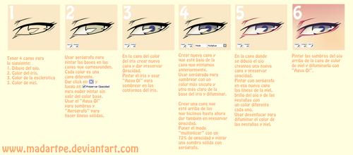 Spanish tutorial SAI - Pintar ojos by madartpe