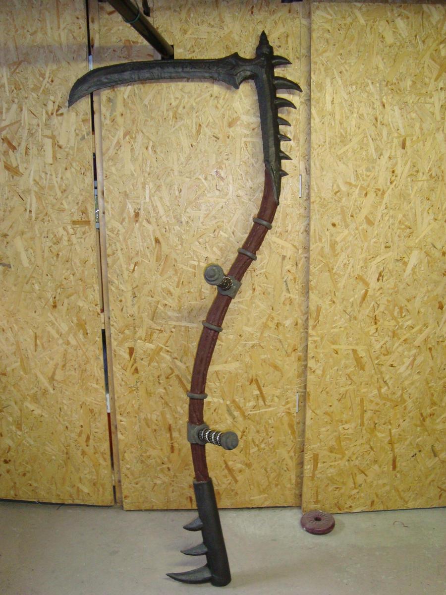 Unfinished LARP Scythe by draks
