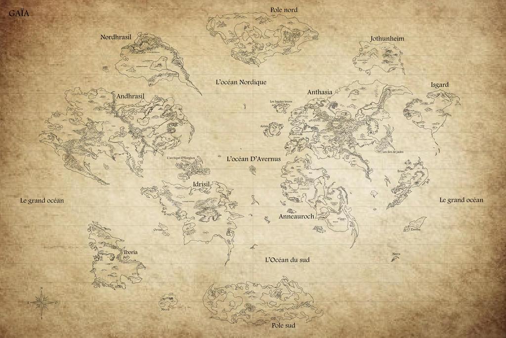 Map of Gaïa by draks