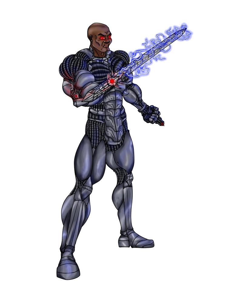 Cyber-Warrior by draks