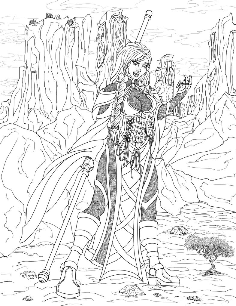 Naya Lineart by draks