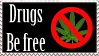 Be drug free by Dolly40