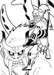 Roshi and Son Goku