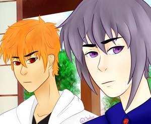 Kyo and Yuki screencap redraw