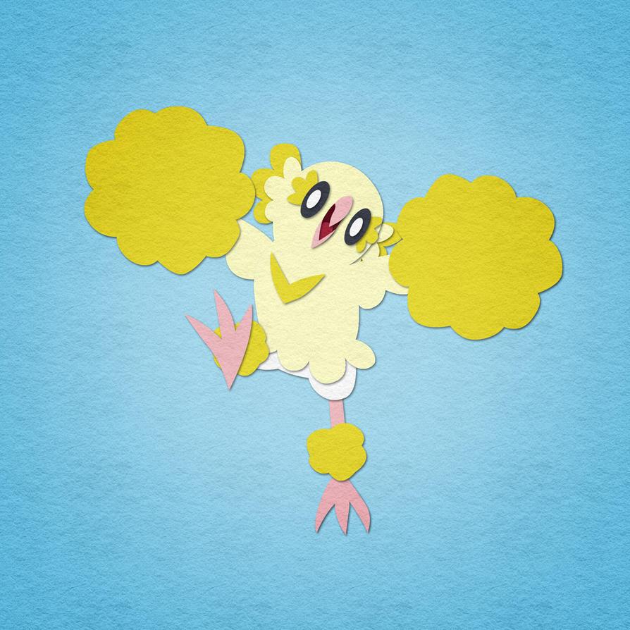 Felt Oricorio - Pompom Style by aha-mccoy