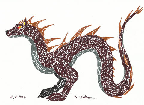 Tatoo Style Dragon