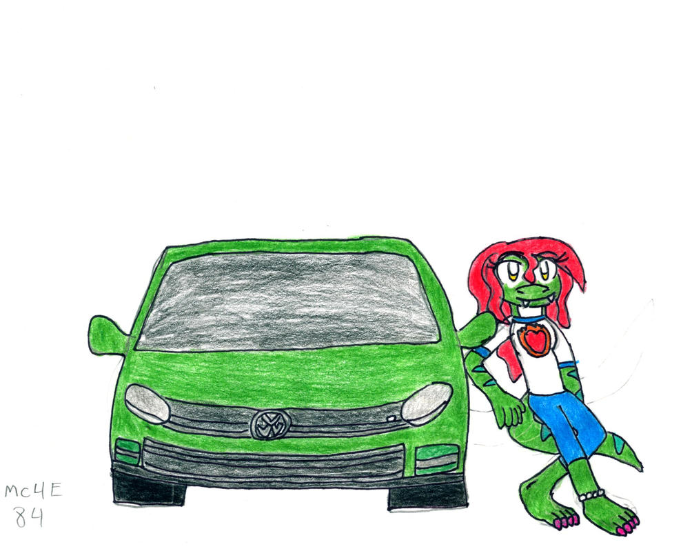 Linzie and her car 2 by MC4E84