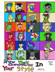Draw Their Characters/OC In Your Style part 2