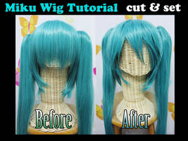 Miku wig tutorial: CUT and SET by valxonia