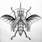 Inktober day 14 Armour: Armoured beetle tattoo