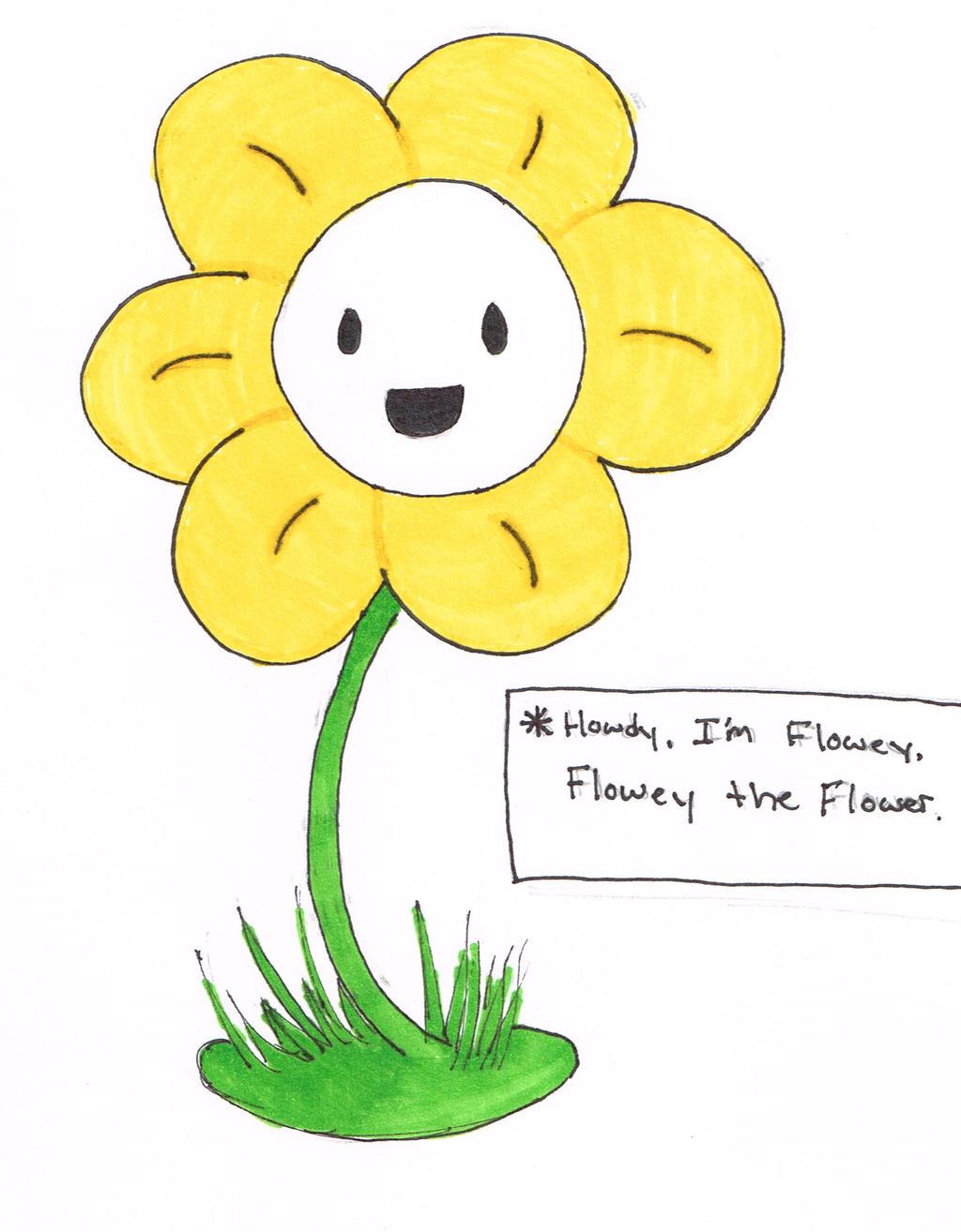 Flowey The Flower by KiwiPopsicle on DeviantArt