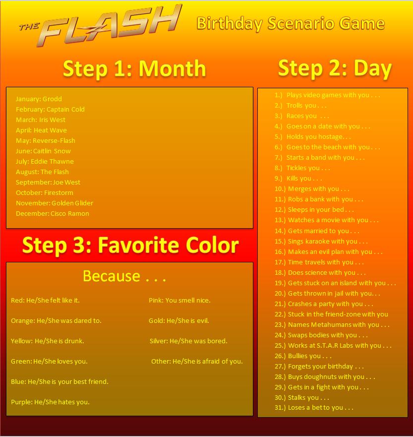 One Piece Birthday Scenario Game: CW Flash Birthday Scenario Game By Ironmanfan365 On DeviantArt