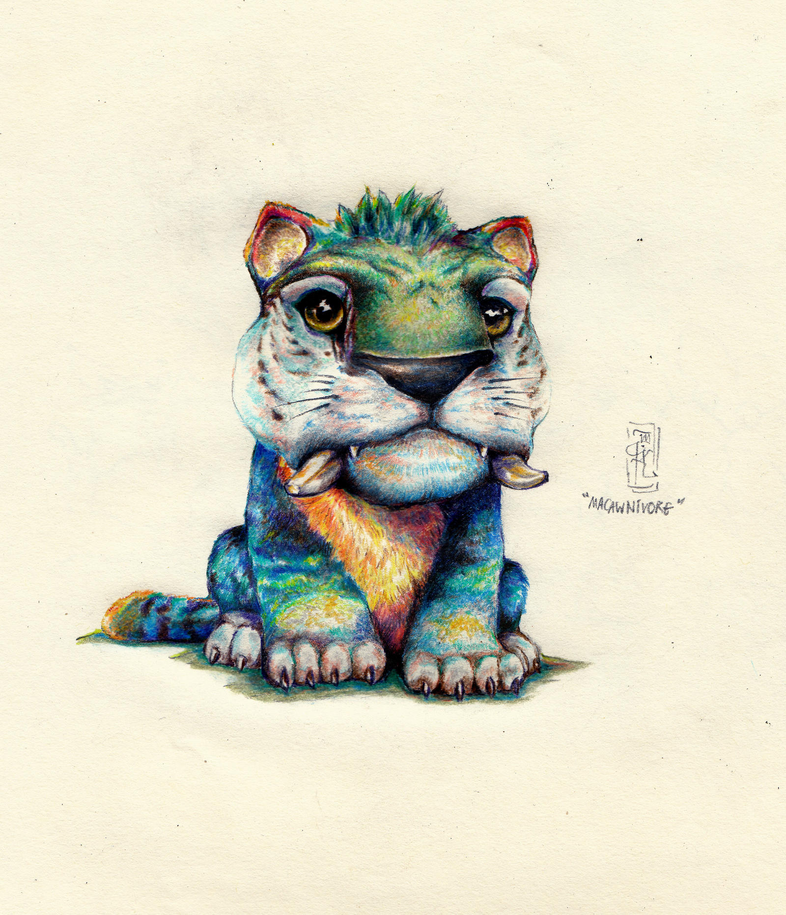 Macawnivore from the croods colored pencil by mikmerfiller on macawnivore from the croods colored pencil by mikmerfiller voltagebd Choice Image