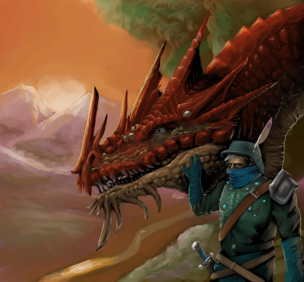 dragon and rider - variation by hail-the-oblivious