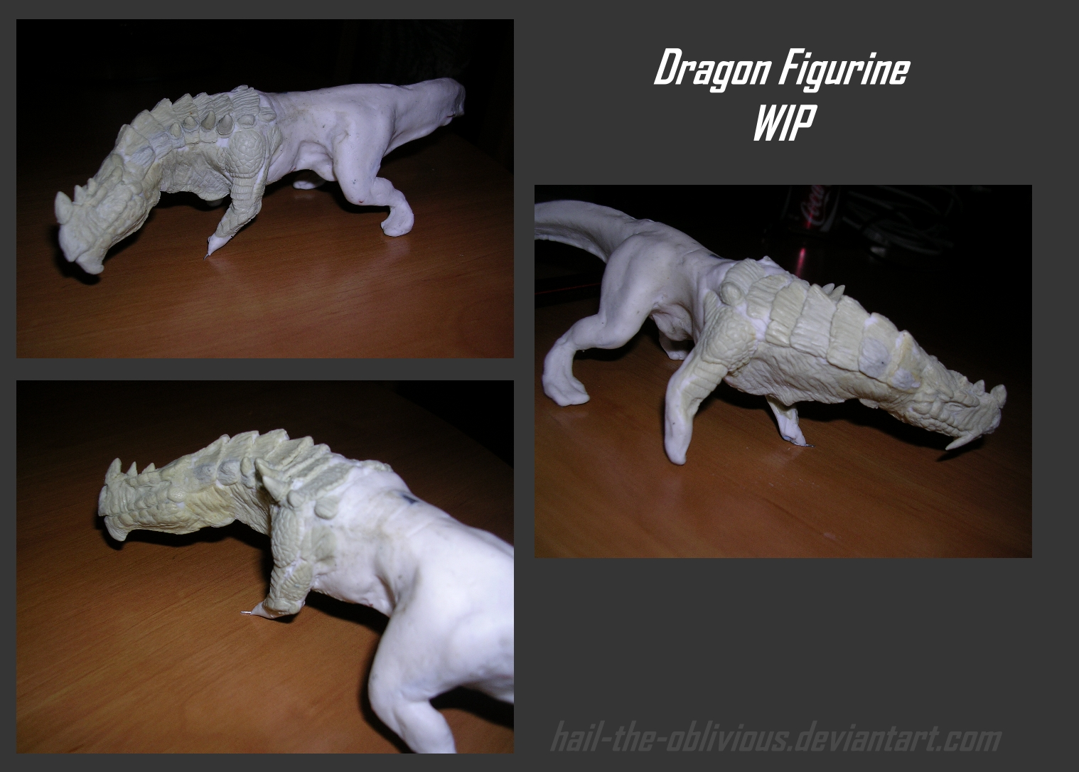 dragon figurine WIP3 by hail-the-oblivious