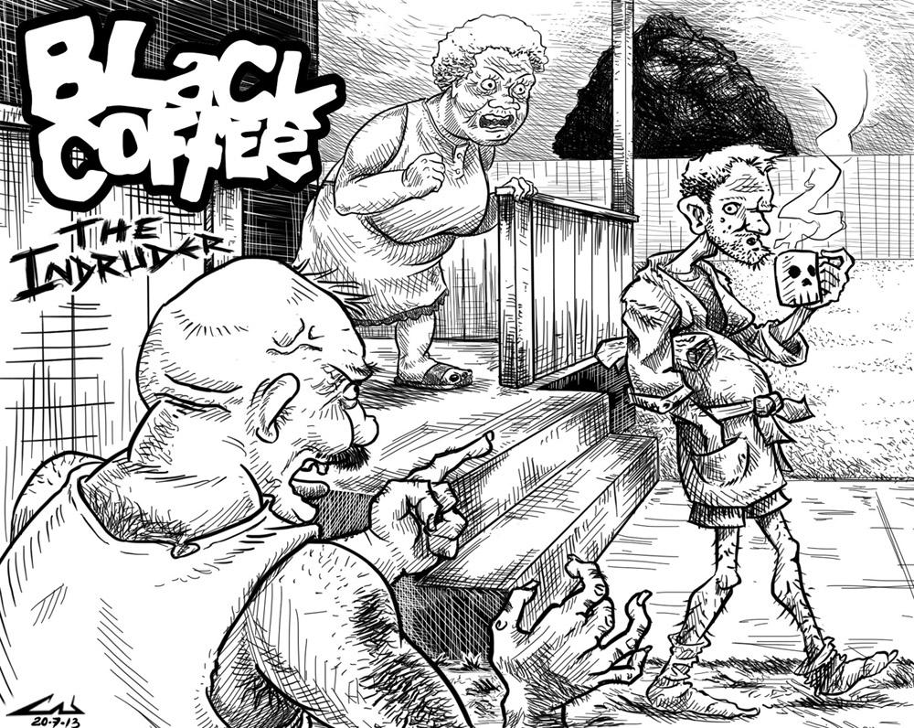 BLACK COFFE - The Intruder by CabelloBanzeh