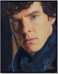 Benedict - Sherlock - Oil Pastels by NataliesCourageClub