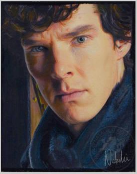 Benedict - Sherlock - Oil Pastels