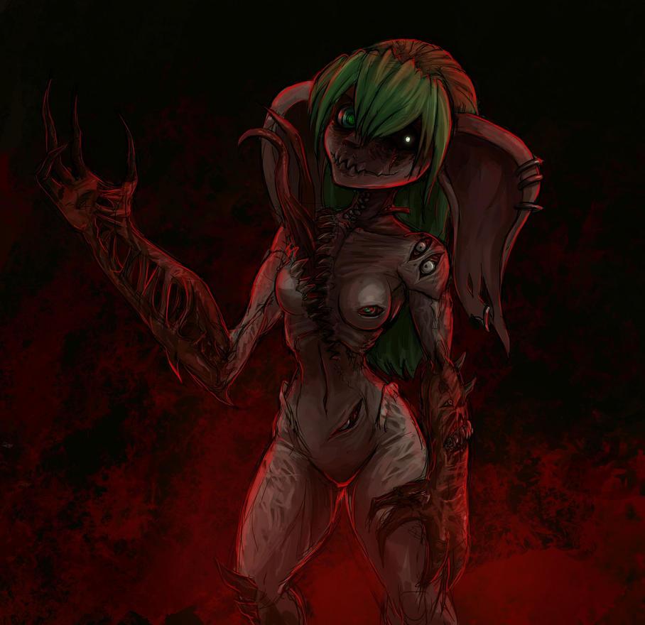 Asura Body Horror by SurealKatie
