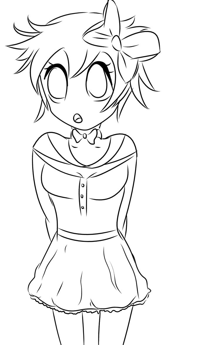Anime Girl Drawings With Side Braids Sketch Coloring Page