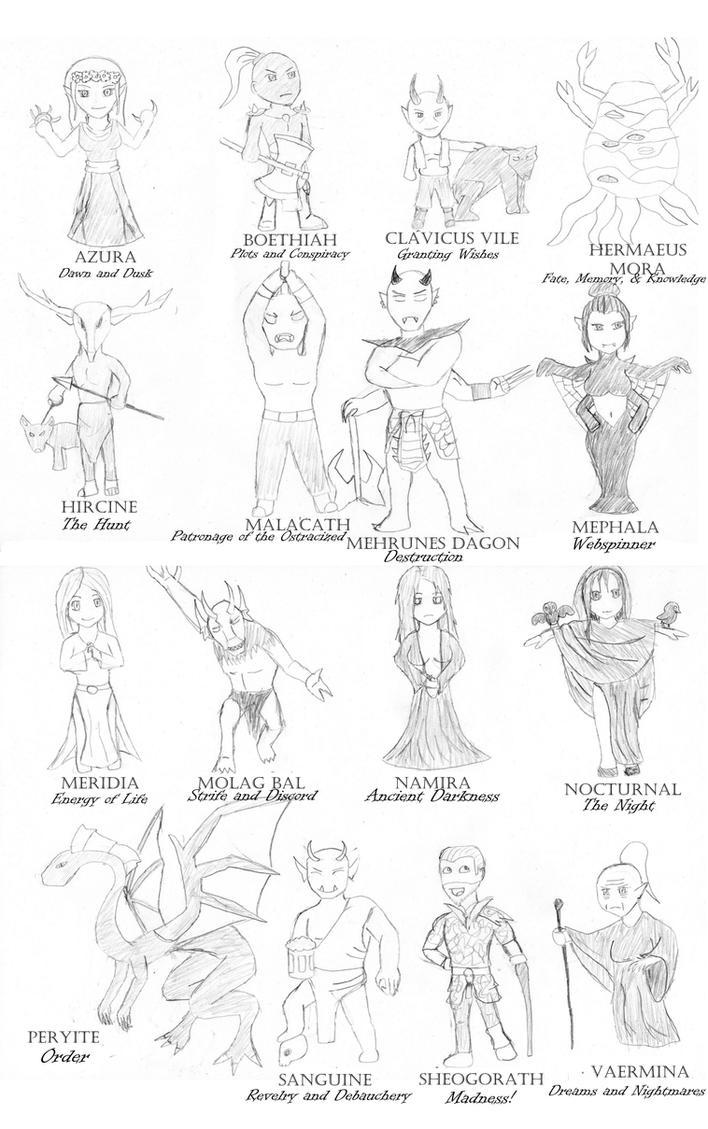 16 Little Daedric Lords by King-Zairak