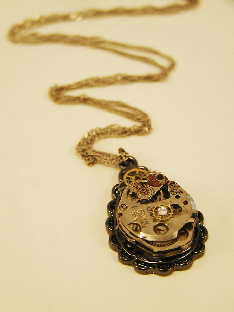 Gilded Teardrop Necklace by GildedGears