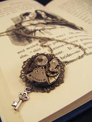 Lacy Key Necklace by GildedGears