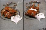 Hand-stitched Satchel Necklace