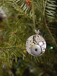 Ribbons and Gears Ornament by GildedGears