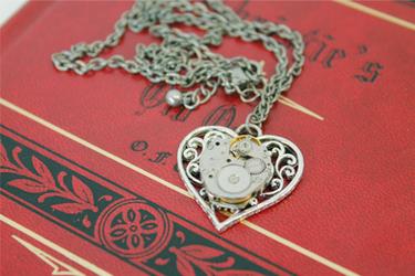 Heart's Gears Necklace by GildedGears