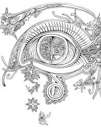 Efflorescent Eye by lauraborealisis