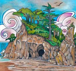 Grave of the Stingray by lauraborealisis
